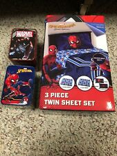 Spider-Man 3 Piece Twin Sheet Set Microfiber Soft With 2 different Watches