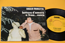 "ANGELO MARLETTA 7"" LETTERA D'AMORE A FRAN (CESCA) ORIG 1979 EX"