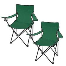 Parkland Lightweight Portable Camping Chair, Green - 2 Piece