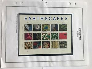 """US Postage Sheet, # 4710, """"Earthscapes"""" Pane of 15, 2011, FOREVER.Stamps, MNH"""