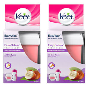 Veet EasyWax Refill All Skin Types, Gelwax Hair Removal (50ml)
