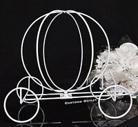 PUMPKIN CINDERELLA WHITE WIRE CARRIAGE TABLE DECORATION QUINCEANERA WEDDING DIY