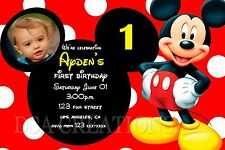 12 MICKEY MOUSE Birthday party invitations PRINTED