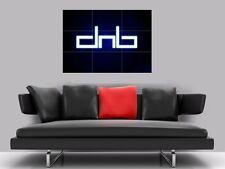 "DRUM AND BASS BORDERLESS MOSAIC TILE WALL POSTER 35"" x 25"" DNB D N B"