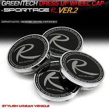 Wheel Center Hub Cap ver. 2 Black & Silver 4P 60mm For 11 Kia Sportage R