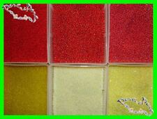GROS LOT + 12 000 PERLES 120 GR ROCAILLE ROUGE JAUNE