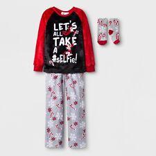ELF on the SHELF Girls Pajamas Size 6 ,8/10 M,12/14 Christmas +socks #sELFie NEW