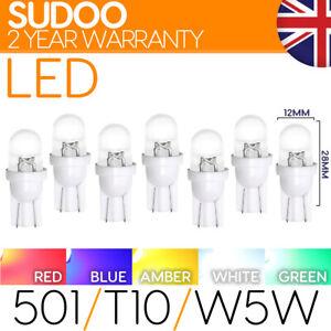 501 w5w Led Bulb Xenon T10 Number Plate Interior Side Light Capless bulbs 12v