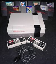 1985 Nintendo Entertainment System NES-001 Console with 7 games.