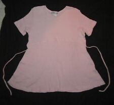 Womens MOTHERHOOD MATERNITY Ribbed Pink T-shirt size S -runs big/fits like a M/L