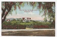 Vista Del Mar Bartlett Home Hollywood California 1910c postcard