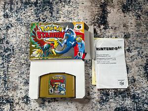Pokemon Stadium 2 (N64 2001) Game And Box. TESTED.
