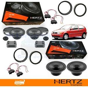Hertz CK165 + CPX165 Casse Altoparlanti Ant + Post VW POLO 6N DAL 1994 AL 2003