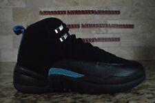 NEW Nike Air Jordan 12 XII Retro Nubuck Black University Blue UNC 130690-018