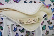 Merino Wool Blanket Cashmere Blend Minky Reversible Cot bed Blanket 140/100cm