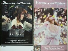 FLORENCE + THE MACHINE 2010 LUNGS 2 SIDED PROMOTIONAL POSTER ~NEW~!