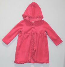 """Gymboree """"Swim Shop"""" Ruffled Hooded Pink Terry Cloth Swimsuit Cover Up, 18-24 mo"""