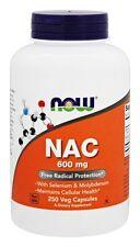 Now Foods NAC N-Acetyl Cysteine 600mg, 250 caps BOOST GLUTATHIONE, LIVER HEALTH
