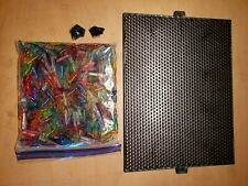 Lot of vintage Lite Brite mixed length Pegs with a extra peg board and clips.