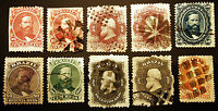 Brazil #53-#60 1866 Early Lot Mint & Used 10 items