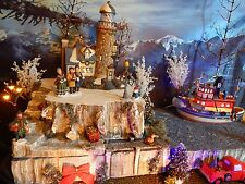 Christmas BY THE SEA Lighthouse cliff Village Display platform base Dept 56