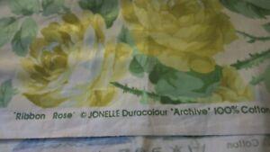 """JONELLE Duracolour """" Ribbon ROSE"""" Archive Cotton Fabric 2m"""