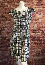 Eliza J White Black Geometric Sheath Dress Size 6