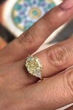 Gold Over for Women's And Girl's 1.89Ct Emerald & Trillian Diamond 14k White