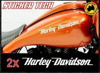 2X HARLEY DAVIDSON FUEL GAS TANK STICKER DECALS SUITS SPORTSTER IRON 1200 V-ROD