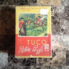 """VINTAGE TUCO DELUXE PICTURE PUZZLE """"THE CHASE"""" 200 PIECES COLLECTIBLE"""