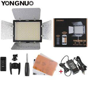 YONGNUO YN300 III Led video Light Panel 5500K For DSLR Camera + Power Adapter