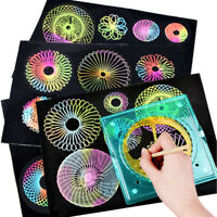 Drawing Geometric Curve Ruler Stencil Spiral Art Stationery Spirograph Toy Gift