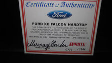 BIANTE 1/18 COA CERTIFICATE OF AUTHENTICITY M CARTER  78 BATHURST FORD XC SIGNED
