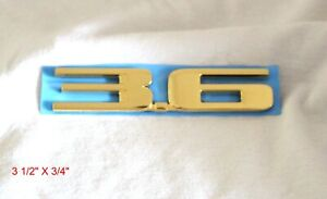 "CADILLAC CTS ATS XTS SRX ""3.6"" 24K GOLD PLATED REAR EMBLEM - 25841627"