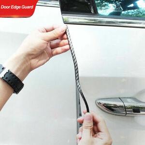 2m Chrome Silver Black Carbon Car Door Edge Guard Protector Moulding Trim Strip