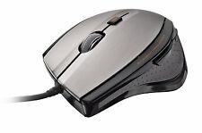 TRUST MAXTRACK 17178 Nero e Argento USB 6 Bottoni 1600 DPI BlueSpot PC Mac Mouse