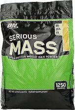 Optimum Nutrition Serious Mass 5.4kg on Gainer Protein 12 X 75g PhD Flapjacks Banana Peanut Butter