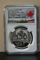 2017Canada Our Home&Native Land First Releases Canada's 150th Anniv S$1 NGC PF70
