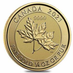 2021 1/4 oz Canadian Twin Maple Leaf Gold Coin .9999 Fine BU (Sealed)