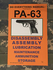 PA-63 Pistol Do Everything Manual