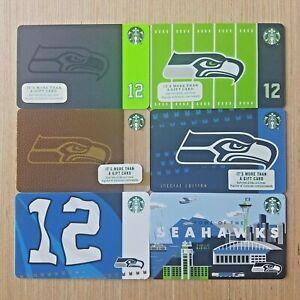 Starbucks Gift Card 2018 SEATTLE SEAHAWKS 2014 Worldwide shipping. Mint
