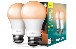 Smart Light Bulb Treatlife Tunable White Dimmable LED - 2 Pack Alexa Google