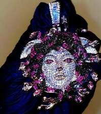 Multi Color Medusa Head Beautiful Fantastic Pendant In Solid 925 Sterling Silver
