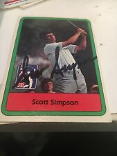 Scott Simpson Signed 1982 Golf Card