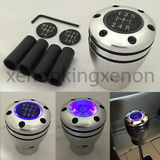 JDM Manual Transmission PURPLE LED Light Silver Sport Gear Stick #r18 Shift Knob