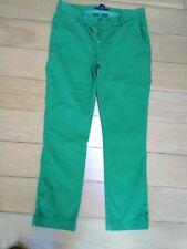 Gant Green Cropped Trousers Designer Net A Porter  UK ,10