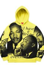 Supreme SS18 MLK Hooded Sweatshirt Lemon Yellow Size M Martin Luther King Jr