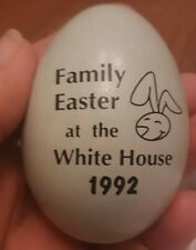 Easter at the White House 1992 light blue wood egg George Barbra Bush