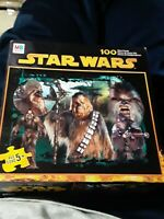2005 NOS Star Wars CHEWBACCA & WOOKIES 100pc MB Puzzle SEALED- 9107