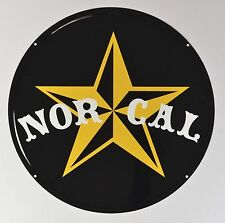 "Nor Cal NAUTICAL METAL 19 1/2"" Round Sign Black Yellow White NEW"